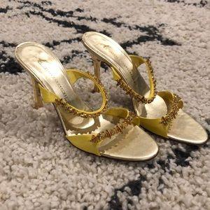 Giuseppe Zanotti Yellow/ Gold Slip on Heels